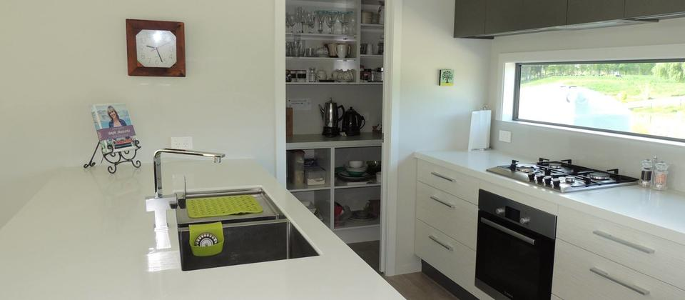 A full working kitchen including butlers pantry fridge and dishwasher