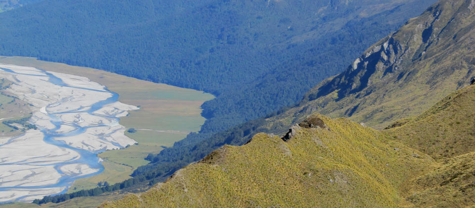 Taking it all in - surrounded by beautiful alpine scenery on the Eco Wanaka Adventure Alpine Lakes Heli Hike