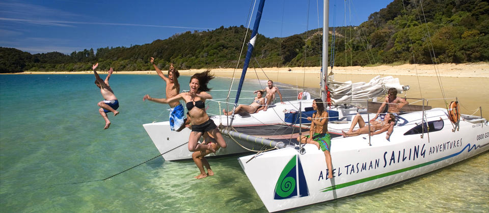 Swimming in National Park waters with Abel Tasman Sailing Adventures
