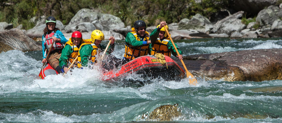 Rafting near Reefton