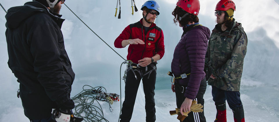 Don't worry if you are new to ice climbing, our professional guide tailors the day to offer variety and challenge to newcomers and experts alike.