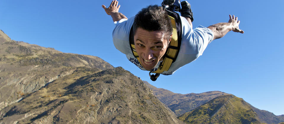 Throw yourself off the 134 meter Nevis Bungy.