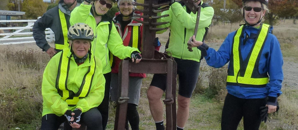 Fun with the group on the Otago Rail Trail