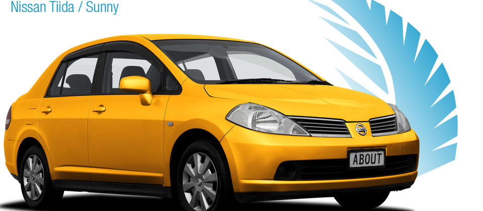 Economy Sedan - Nissan Tiida / Sunny. About New Zealand Rental Cars
