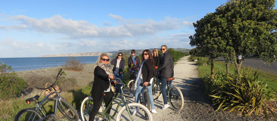 Girls day out with Cape Kidnappers in the backdrop
