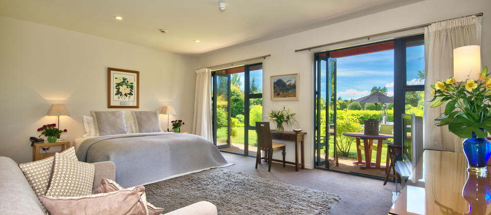 The Linden Suite offers luxurious accommodation and lush garden views