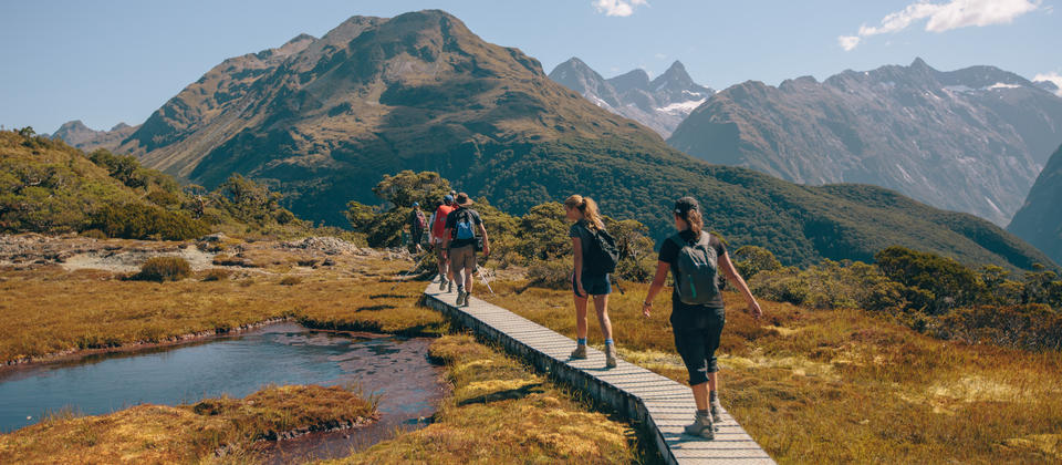 Hiking Key Summit in the Routeburn