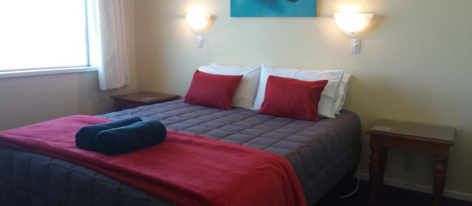 Typical bedroom in one of our one bedroom units.
