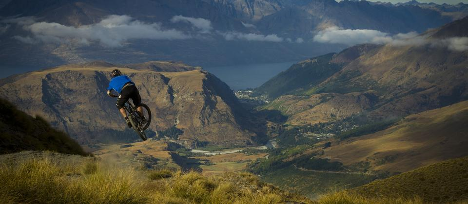 Mountain Biking in Queenstown, near Coronet Peak.