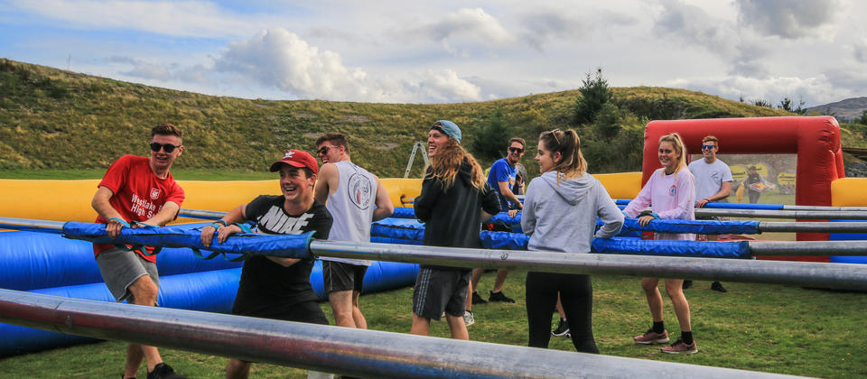 Team building with Human Foosball