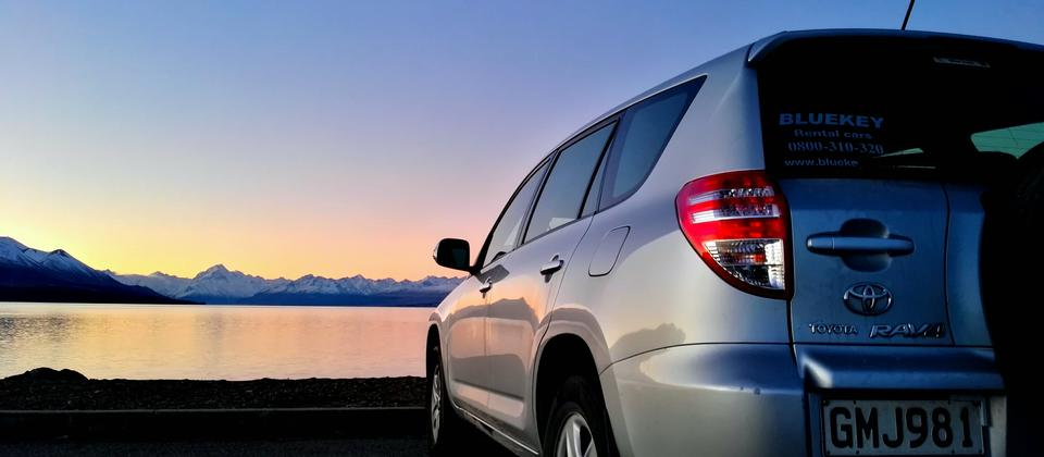 What a gorgeous sunset at Lake Pukaki!
