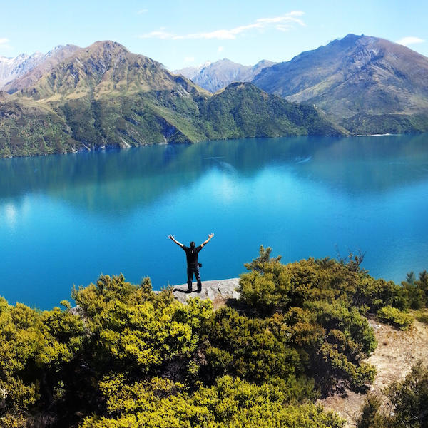 Panoramic views of Lake Wanaka