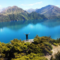 Take it all in on Mou Waho Island. Experience these panoramic views for yourself from the island in the middle of Lake Wanaka.