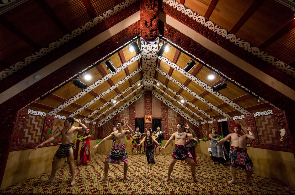 Te Aronui a rua meeting house is one of the only traditional meeting houses you can visit in NZ, only at Te Puia
