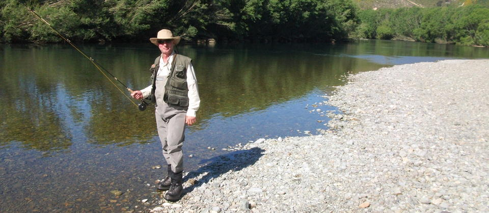 Fly fishing with Mike
