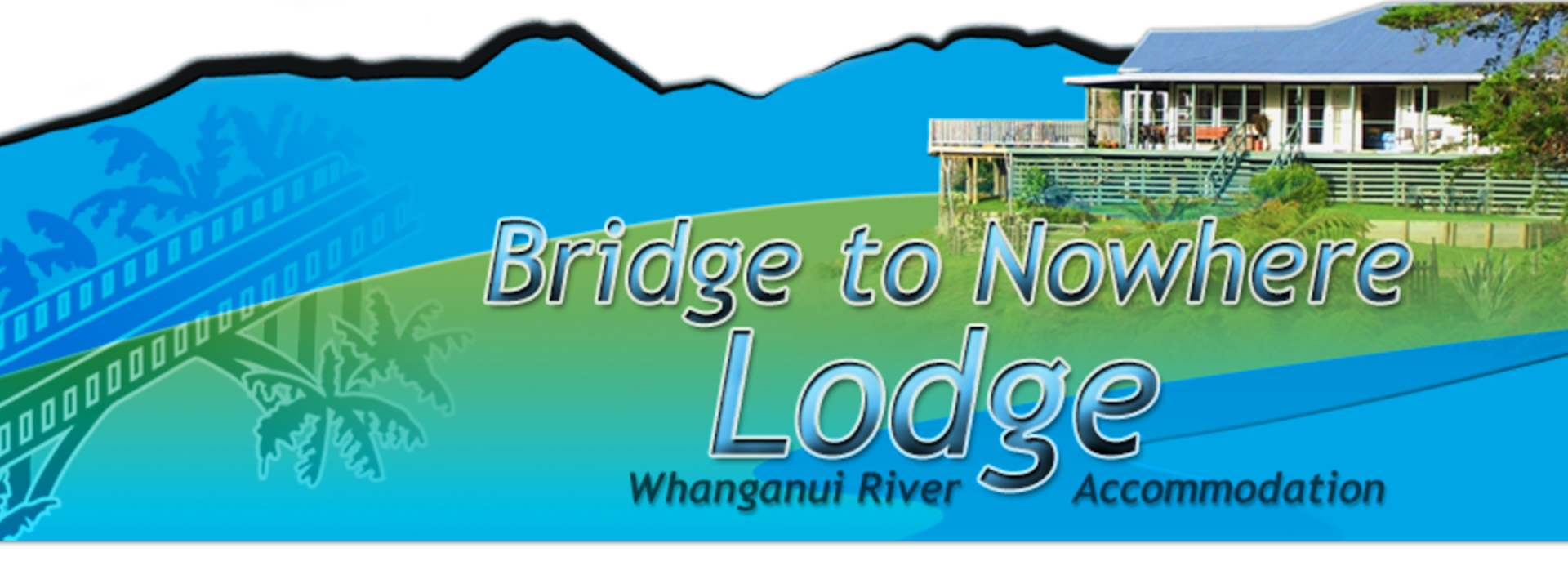 Logo: Whanganui River Accommodation - Bridge to Nowhere Lodge