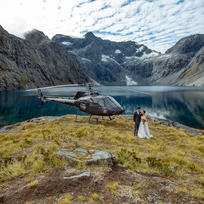 Heli Wedding at Lake Erskine