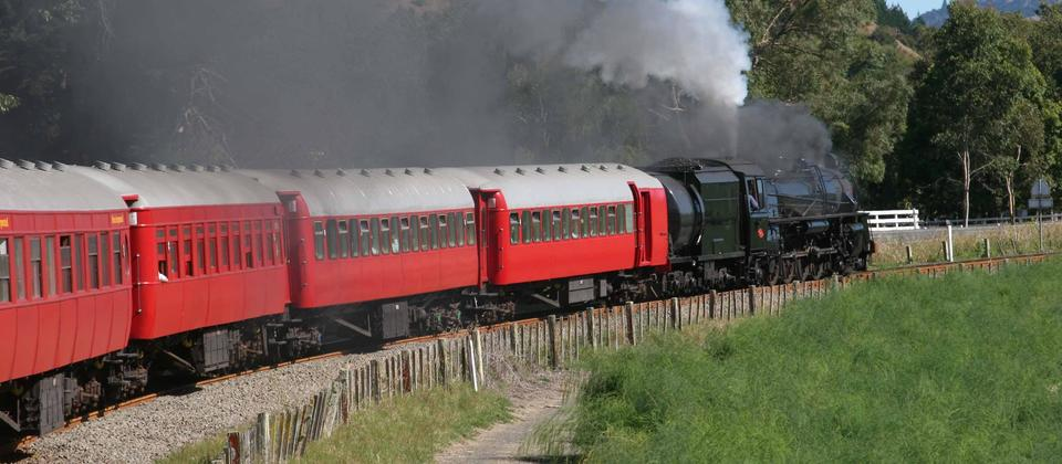 Art Deco train at Eskdale