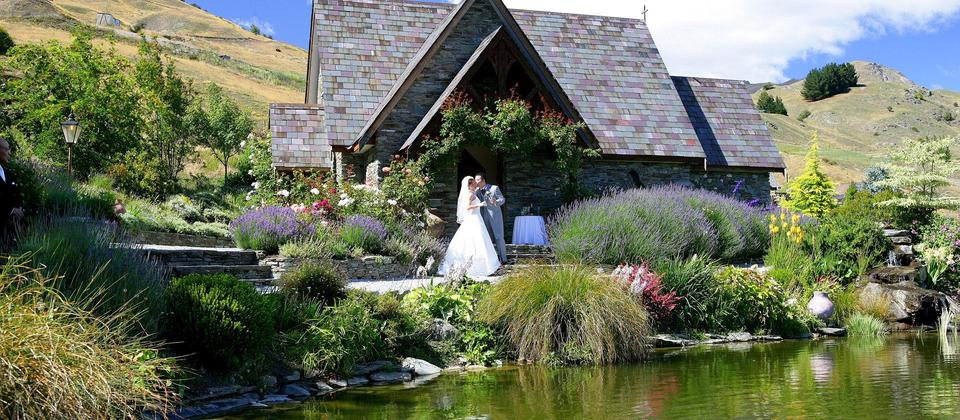 Intimate weddings at the Chapel by the Lake, Queenstown.