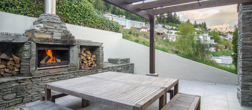 Outdoor Fireplace at Limerick Lane