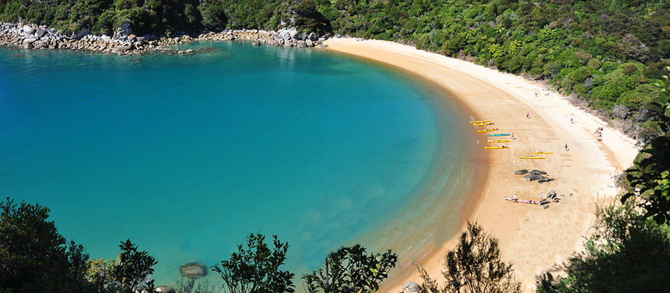 Walking the Abel Tasman track, Abel Tasman National Park