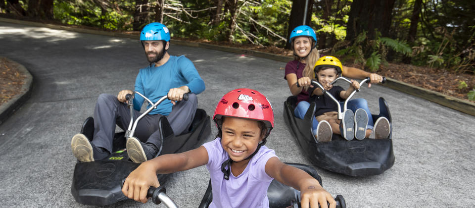 Family fun on the Luge