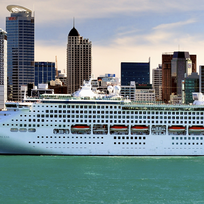 Cruise ship in Auckland harbour
