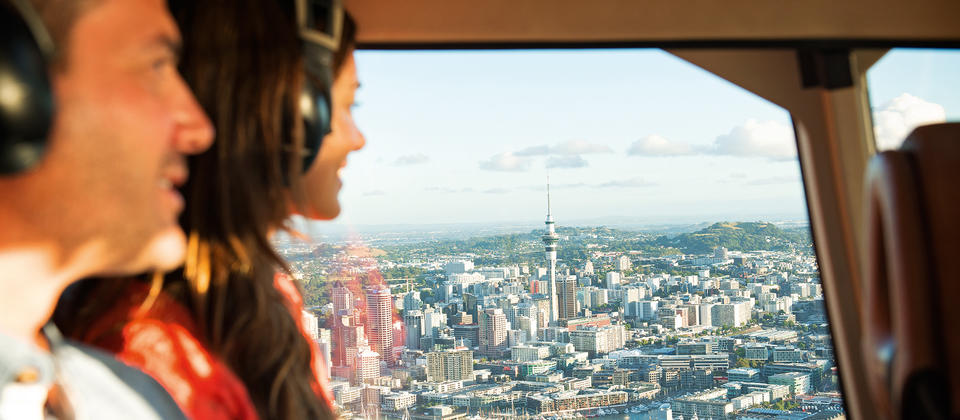 Enjoy the views of Auckland from the air