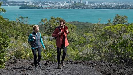 Kayak or ferry to Rangitoto, Auckland's iconic island volcano.