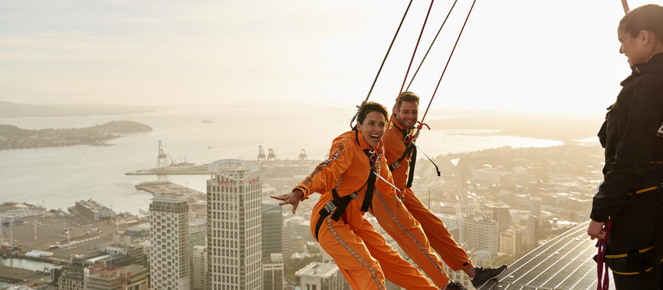 Take a thrilling walk 192 metres above Auckland City.
