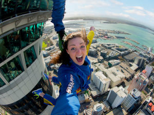 Skyjump from the Sky Tower