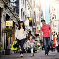 There's designer shopping for all the family in Auckland's CBD retail precincts.