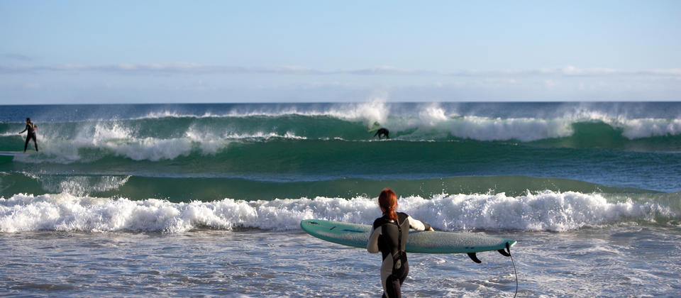 Mount Maunganui is a year-round surfing destination that's best in a north or northeast swell.