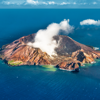 White Island is New Zealand's most active volcano, situated off the North Island's East Coast