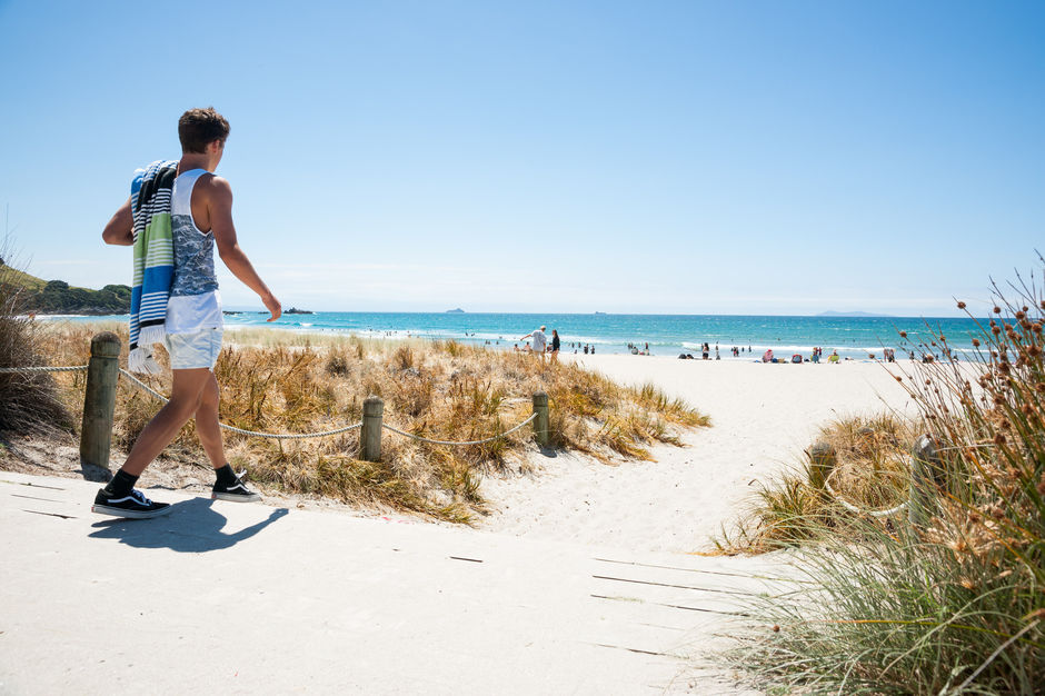 Enjoy a day on the sand at one of Bay of Plenty beaches