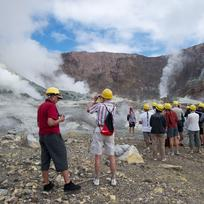 Travelling ashore to White Island volcano