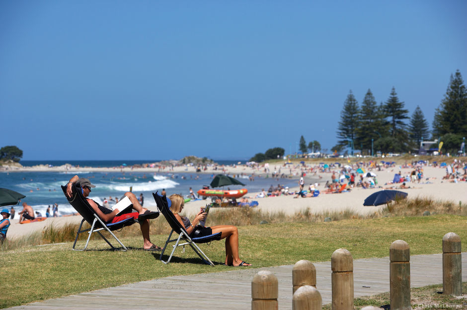 Beach life in Mount Maunganui