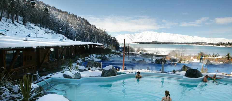 Experience Tekapo Springs Hot Pools, in the Mt Cook Mackenzie area.