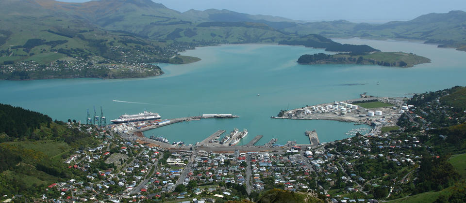 The historic port town of Lyttelton.