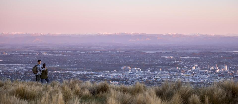 Port Hills at sunset