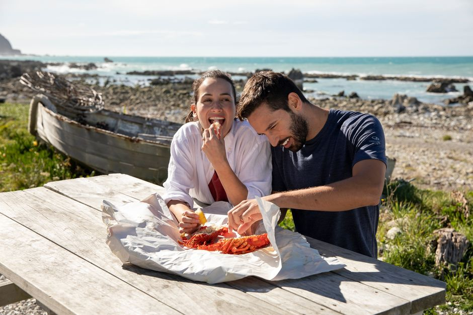 In Māori, 'Kai' means food and 'kōura' means crayfish - so tuck in!