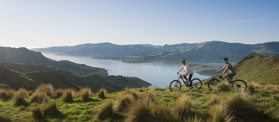 Enjoy a scenic ride along Port Hills, which form the northern rim of the ancient Lyttelton volcano, just 15 minutes from Christchurch.