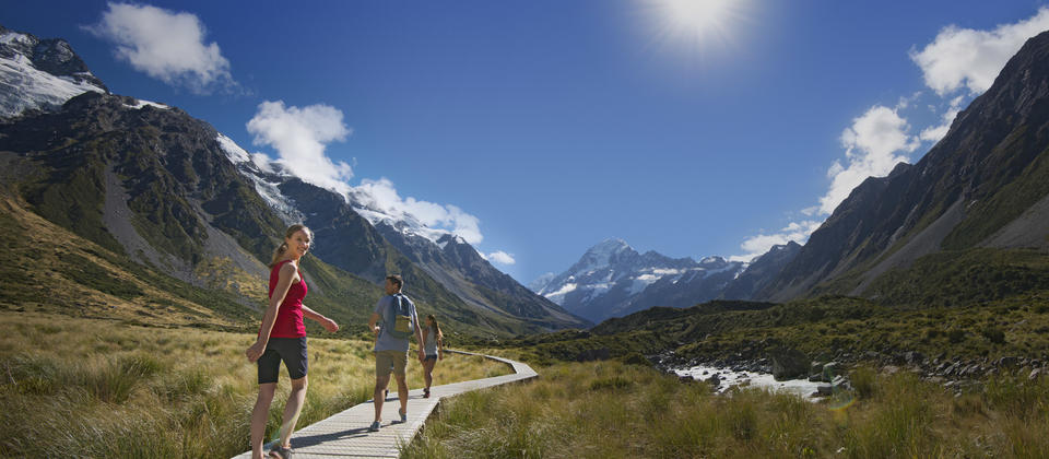 There are a number of short walks you can do at Mt Cook including the Governors Bush Walk, Bowen Bush Walk, Glencoe Walk, and the Hooker Valley Track.