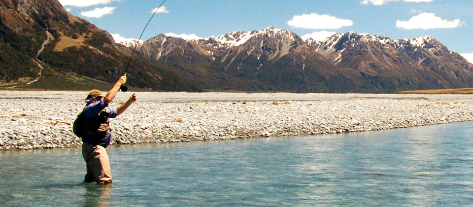 The fly fishing in Canterbury, New Zealand, is unmissable.