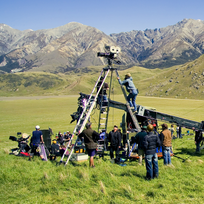 Filming at Flock Hill, Canterbury