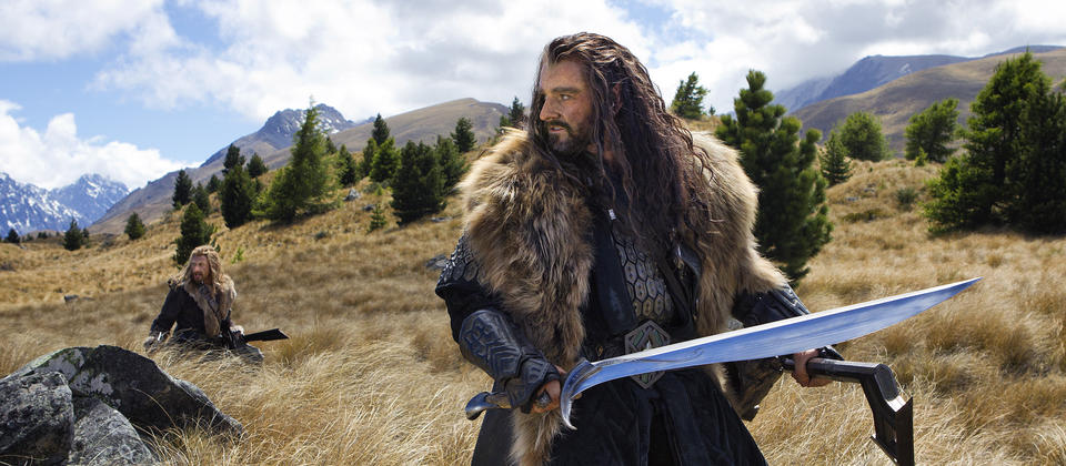 Dwarf Thorin during the Warg Chase, filmed at Canterbury's Braemar Station