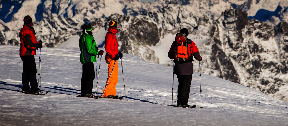 Go snowshoeing and experience dramatic alpine landscapes.