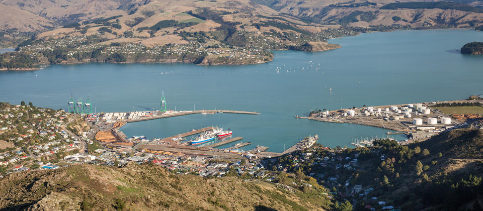 Looking over to Lyttelton