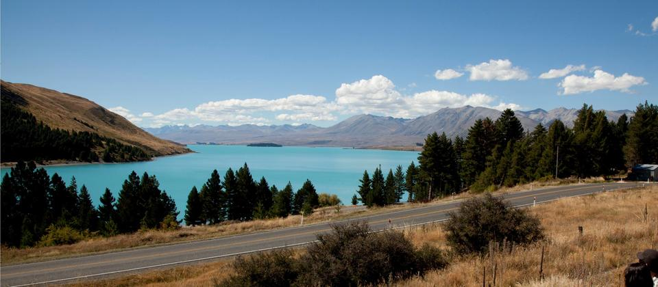 Enjoying the views over Lake Tekapo