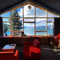 Stunning view from YHA Lake Tekapo Backpackers.